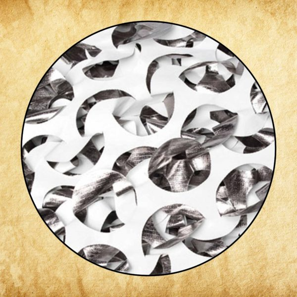 Metallic White - FR White/Silver - 7' 10 x 85yd