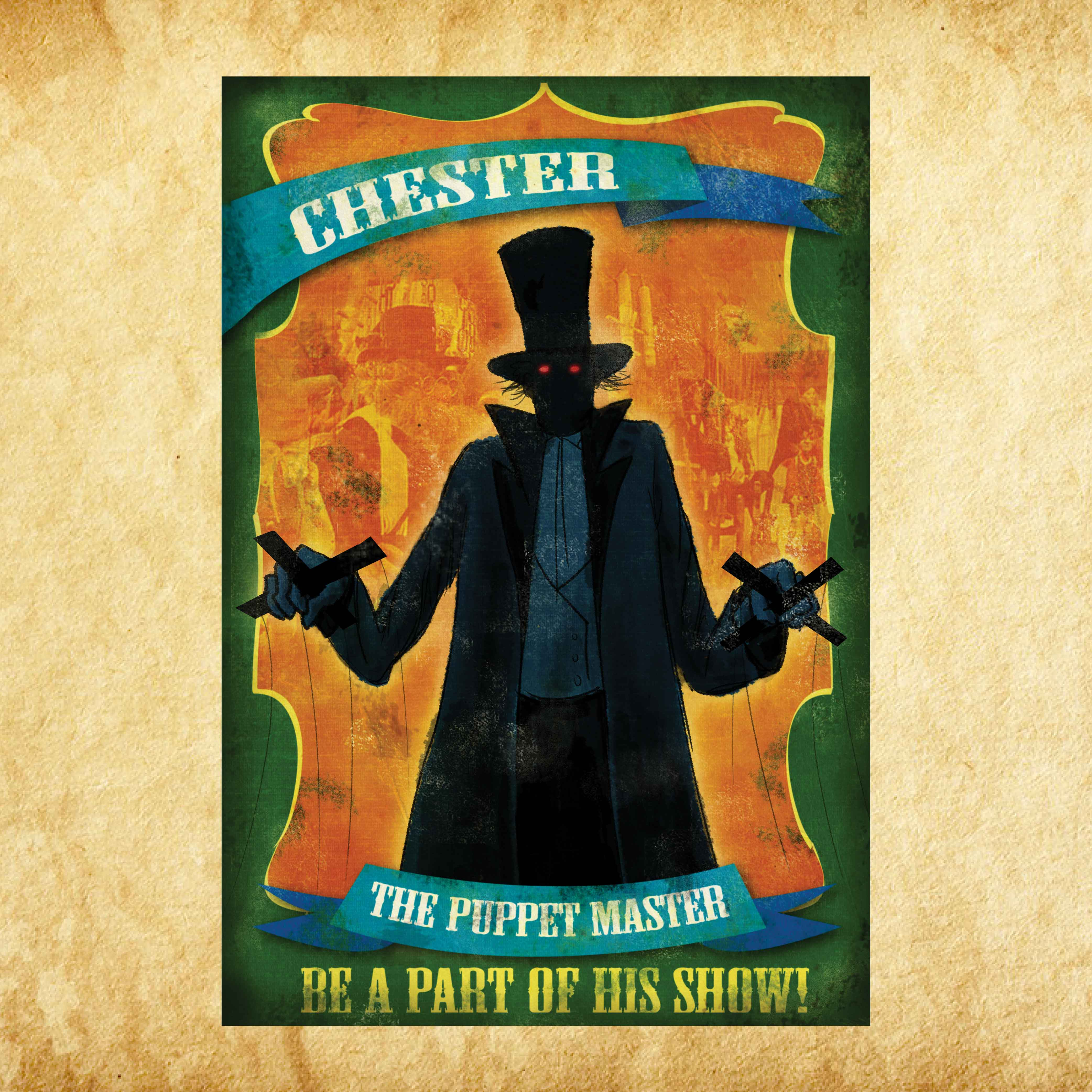 Chester the Puppetmaster 4'x6'