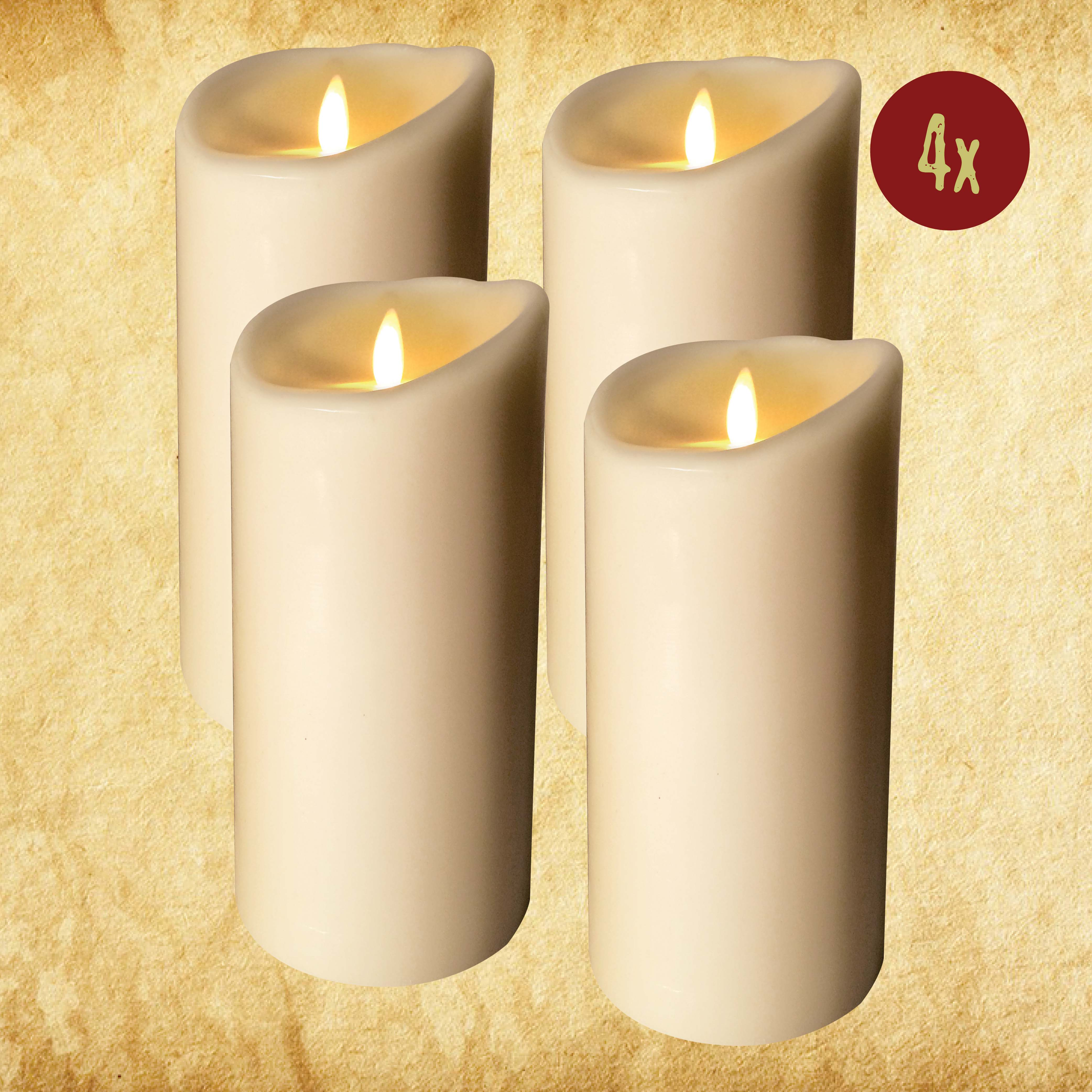 "Wired Candle - 3.5""x9"" Set of 4"