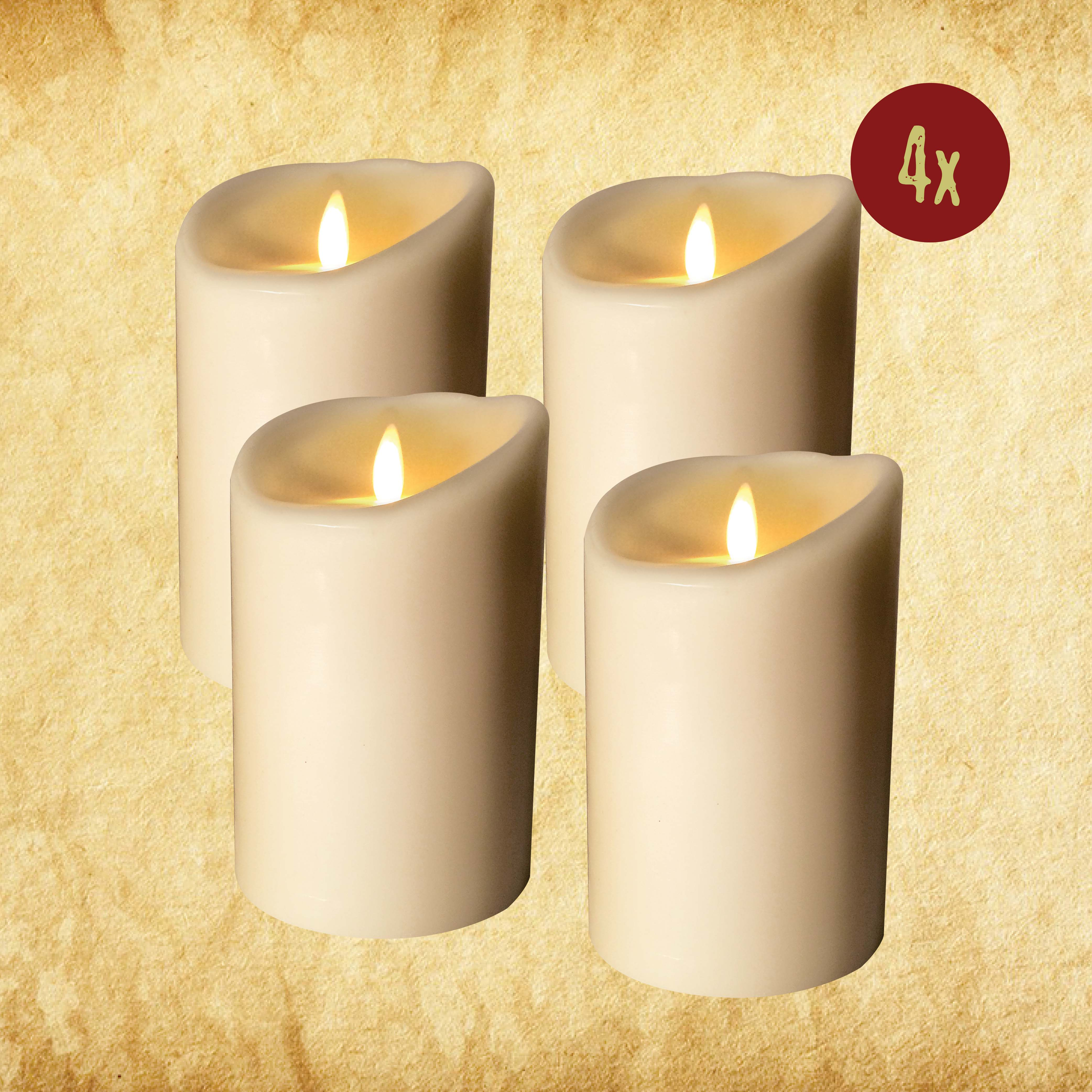 "Wired Candle - 3.5""x7"" Set of 4"
