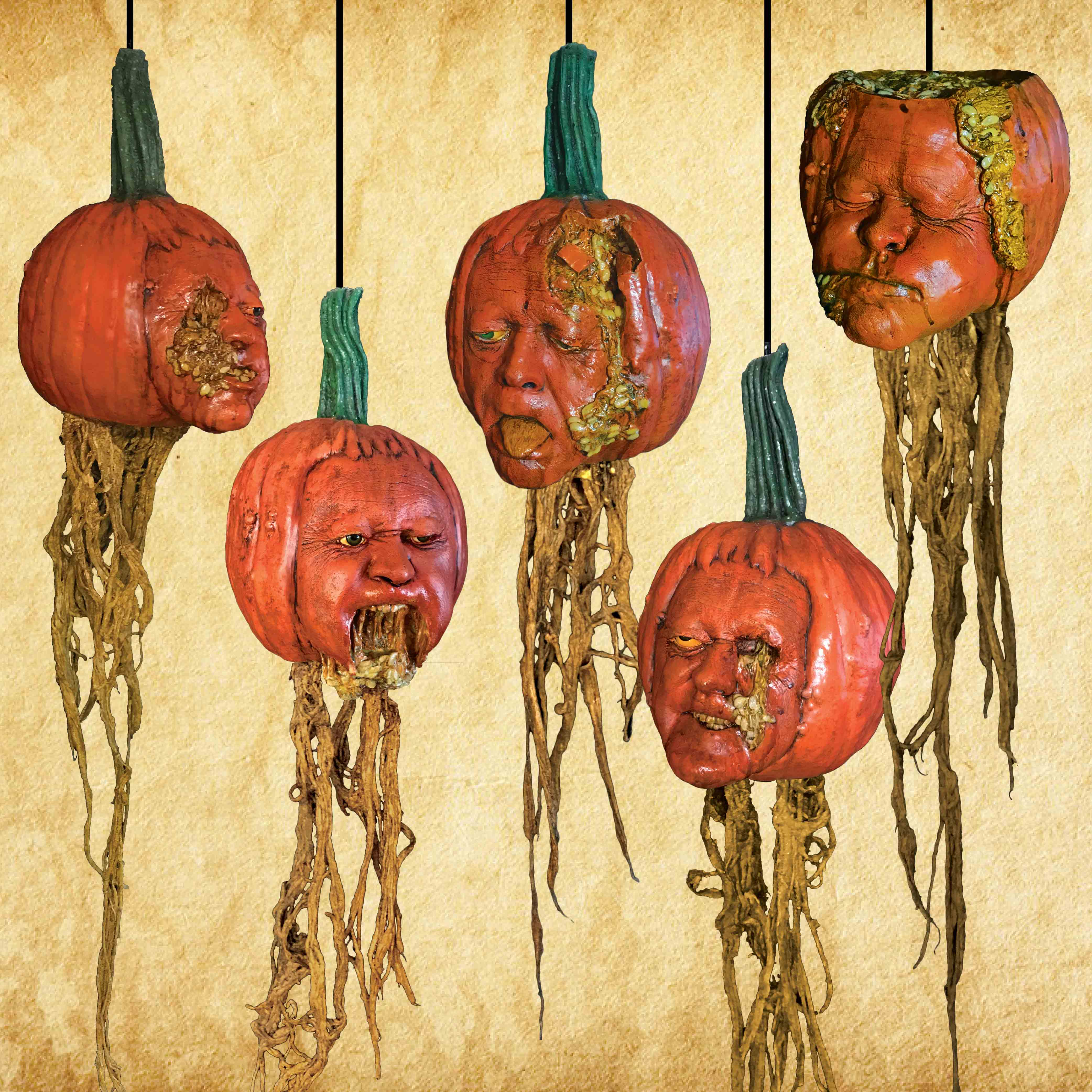 Pumpkin Heads - Set of 5